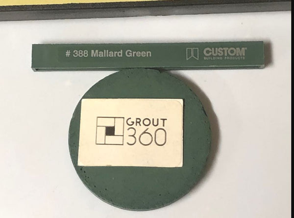 XT Custom matched to CBP 388 Mallard Green Tile Grout Unsanded
