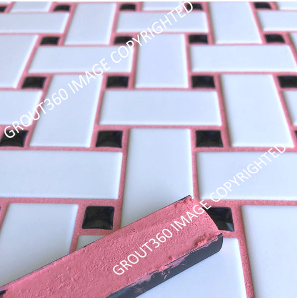 Sanded Bubblegum Tile Grout - Medium Pink Grout