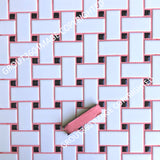Unsanded Bubblegum Tile Grout - Medium Pink Grout
