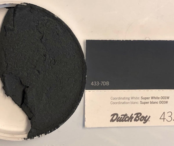 XT matched to Dutch Boy 433 Onyx Shade Sanded Tile Grout