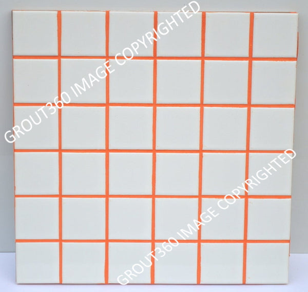 Unsanded Electric Orange Tile Grout - Bright Orange Grout