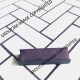 Unsanded Eggplant Tile Grout - Dark Purple Grout