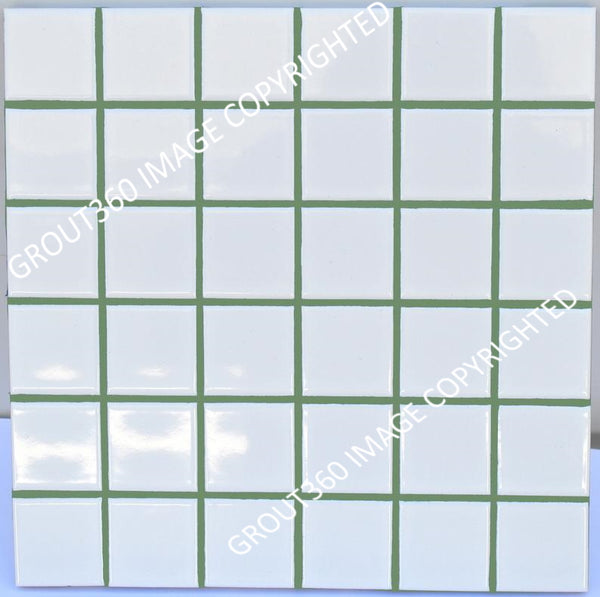 Sanded Georgia Pine Tile Grout - Medium Green Grout