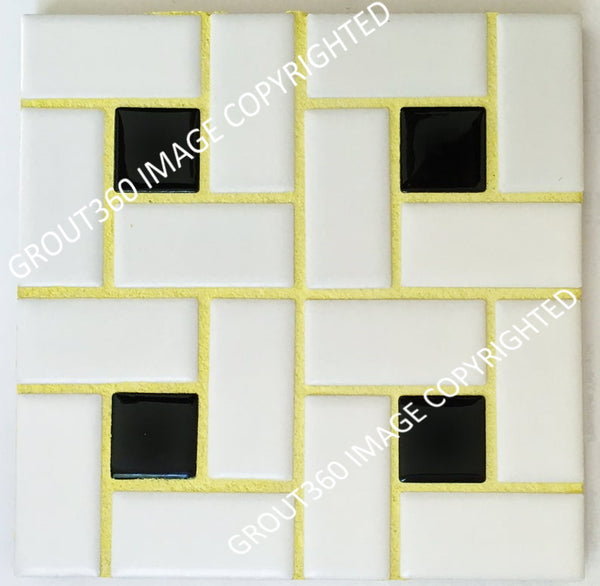 Sanded Lemon Tile Grout - Bright Yellow Grout