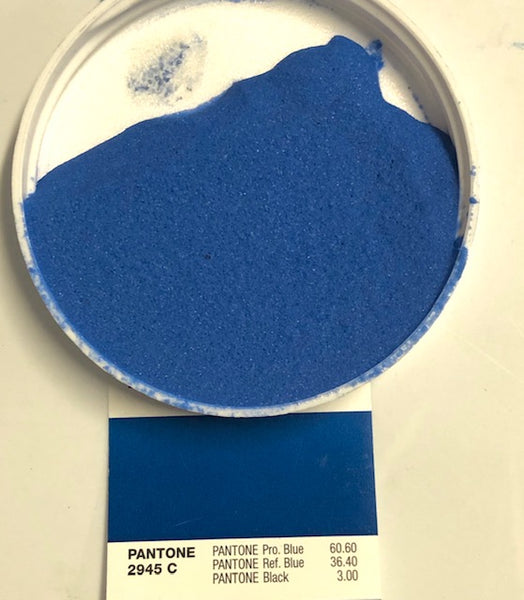 E-1500 matched to Pantone 2945C 80% Sanded Epoxy Tile Grout - 11 lbs per kit