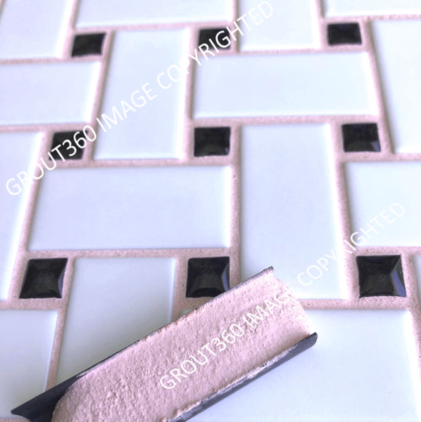Sanded Pink Petals Tile Grout - Light Pink Grout