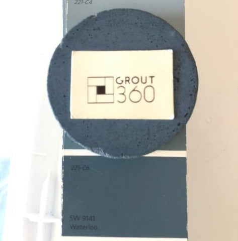 XT matches HEX 566B76 Blue Sanded Tile Grout