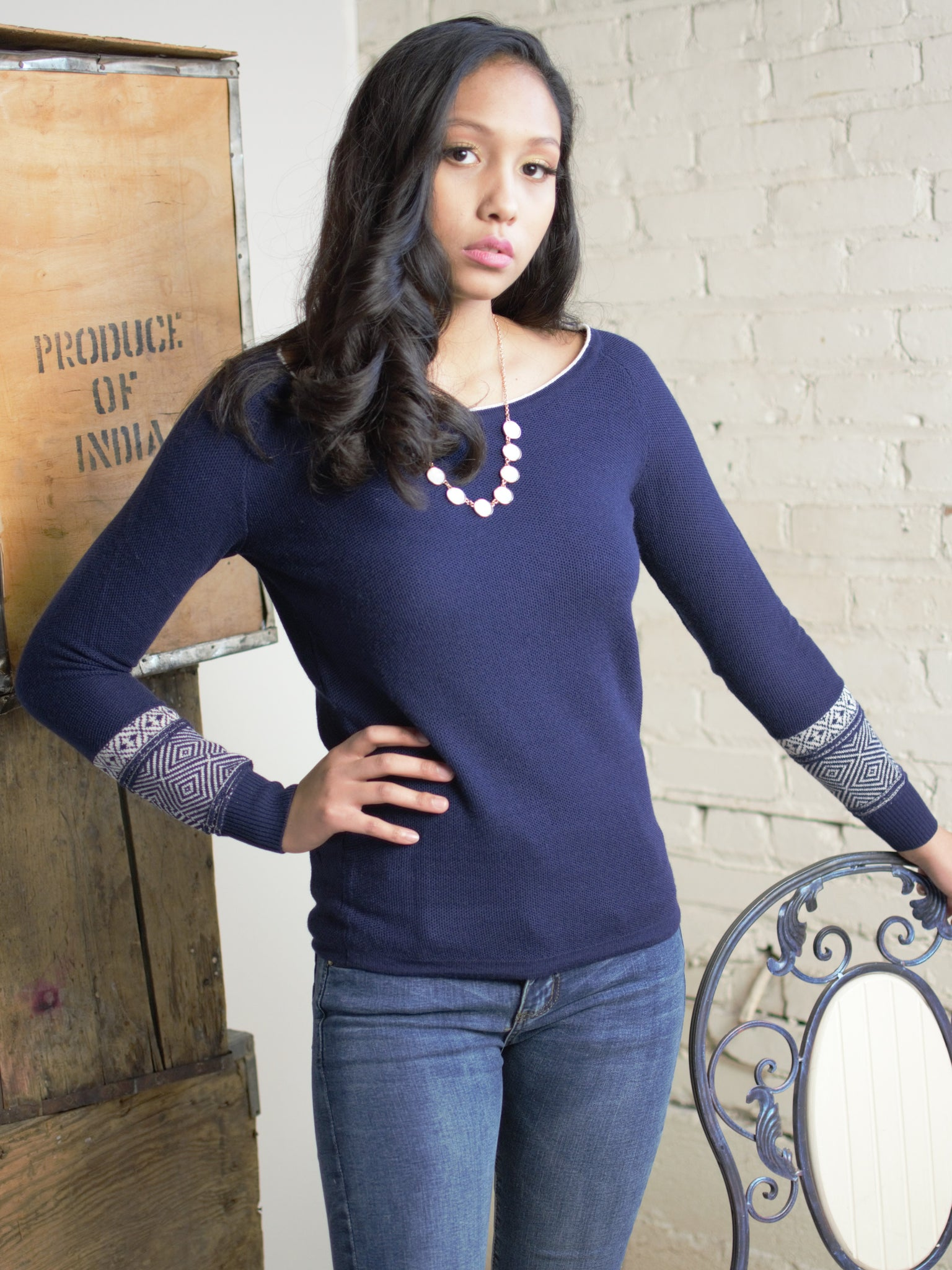 The Alexandra Sweater in Blue
