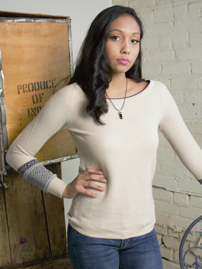 The Alexandra Sweater in Beige