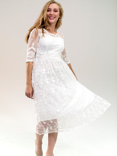 The Caroline White Lace Dress