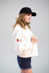 The Eliza White Denim Jacket