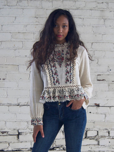 The Layla Embroidered Boho Blouse
