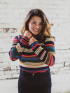 Multi Colored Striped Turtleneck