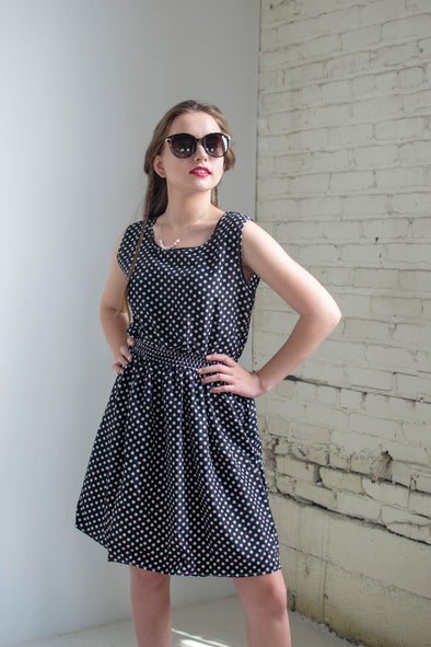 The Lynn Sundress in Polka Dot