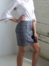 The Julia Pencil Plaid Skirt