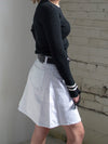 The Janine White Mini Skirt