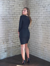 The Victoria Bandage Dress in Obsidian