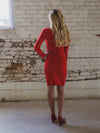 The Victoria Bandage Dress in Lipstick Red