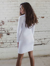 The Victoria Bandage Dress in Ivory
