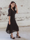 Black Chiffon Dress