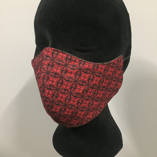 Black Denim Fabric Face Mask (reversible)