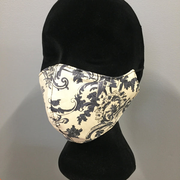 Cotton Fabric Fabce Mask (reversible)