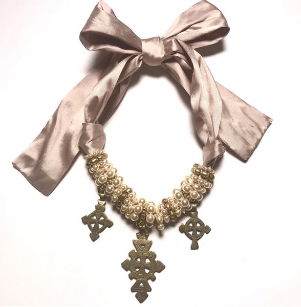 Angela Clark Bullets to beauty necklace