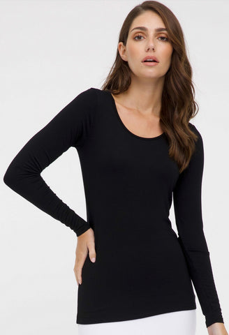 Bamboo long sleeve layering top