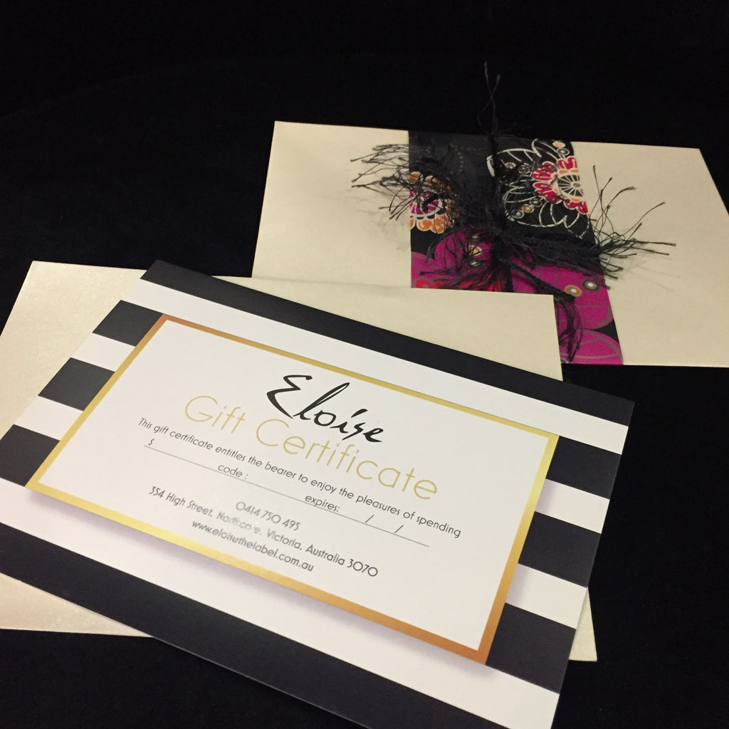Eloise the label gift certificate gift wrapped
