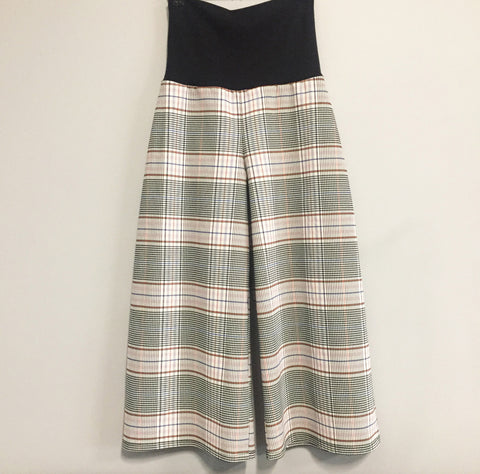 Eloise the label Inspire wide leg culotte in plaid
