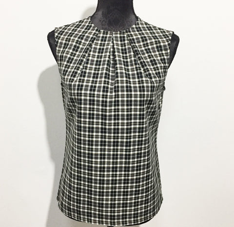 Eloise the label mia top in brown plaid