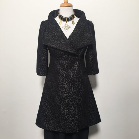 Eloise the label Nikita jacket in black and grey jacquard