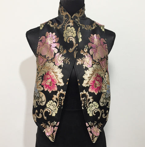 Eloise the label Nikita vest in luxe brocade