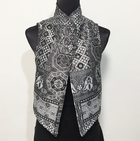 Eloise the label Nikita vest in silver grey tapestry