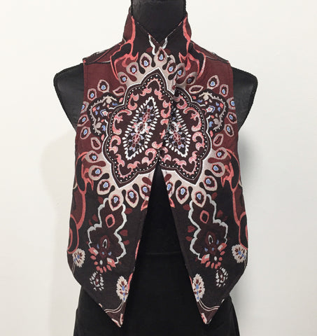 Eloise the label Nikita vest in wine brocade