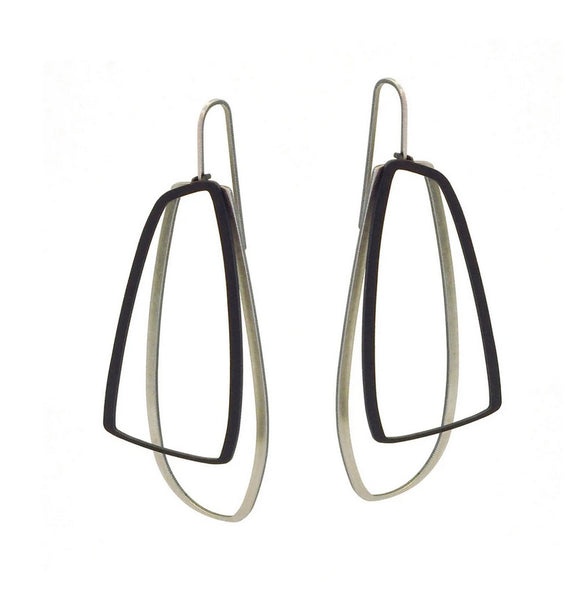 Outline drop earrings