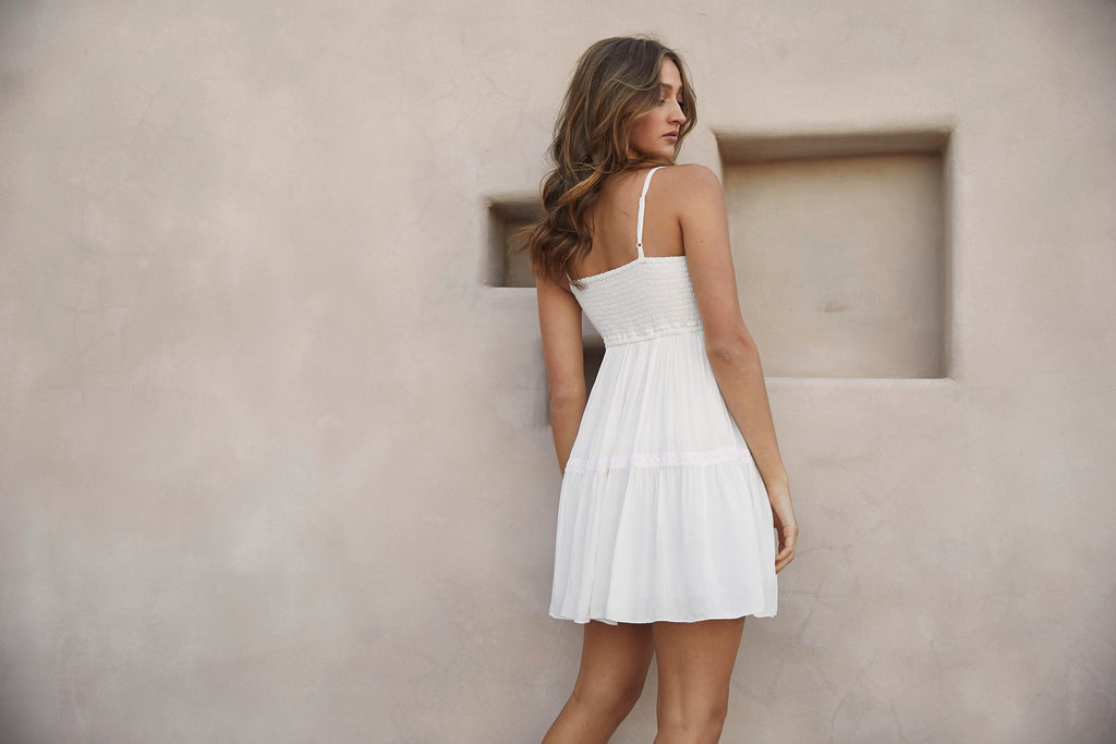 LIZ DRESS -  OFF WHITE