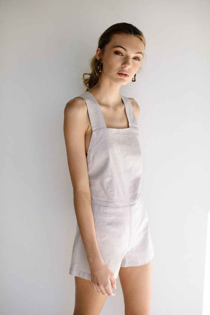 VALENTINA PLAYSUIT - GREY LILAC