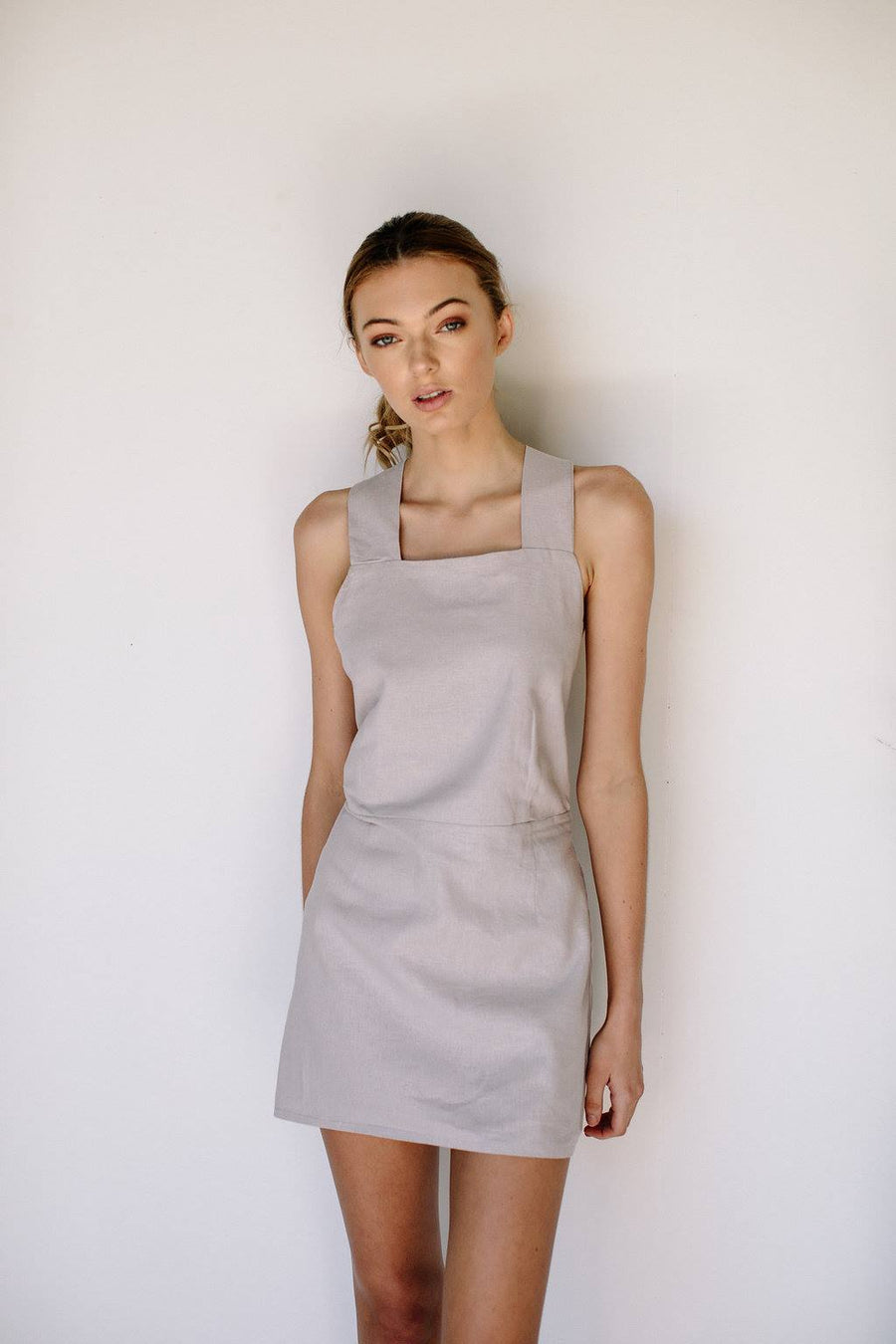 VALENTINA DRESS - GREY LILAC