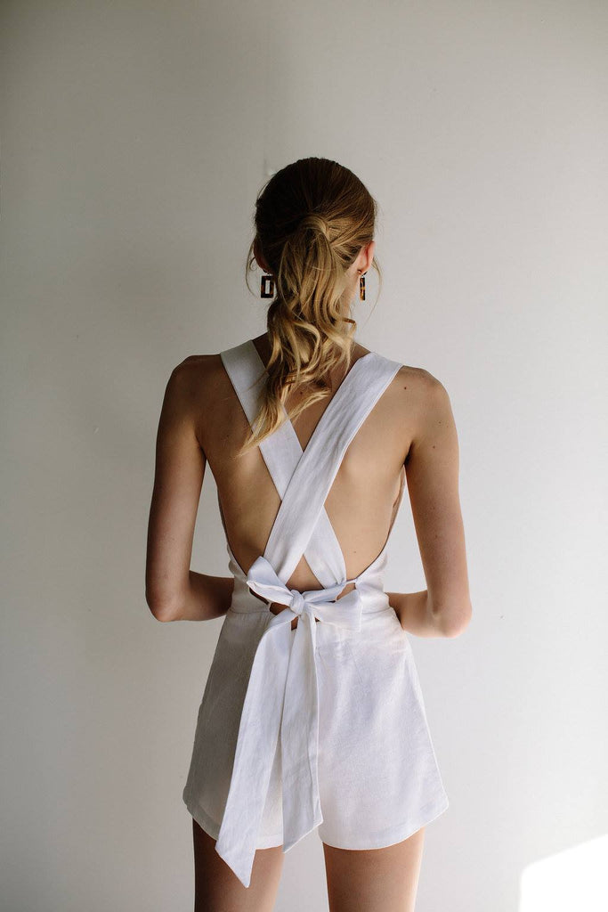 VALENTINA PLAYSUIT - WHITE