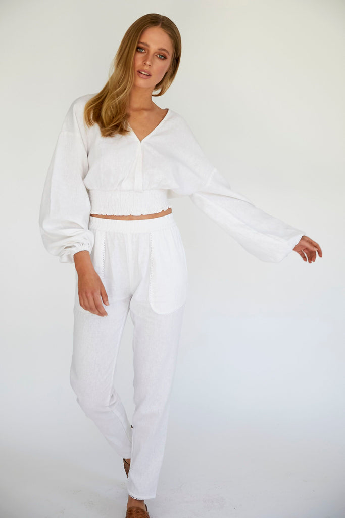 ABBY PANT - WHITE