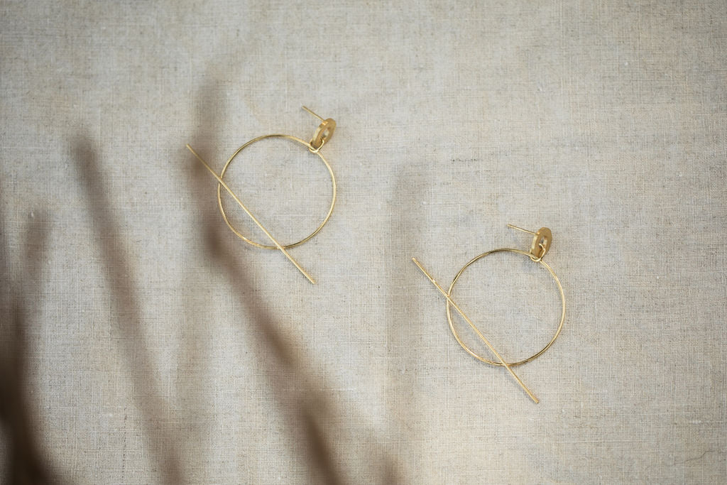 PEBBLE EARRINGS - GOLD
