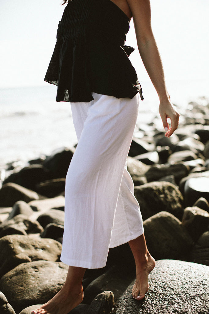 MAGALI PANT - WHITE