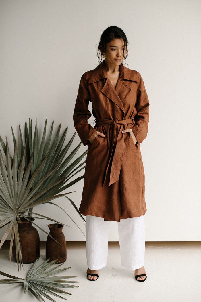 IRIS TRENCH COAT - CHOCOLATE