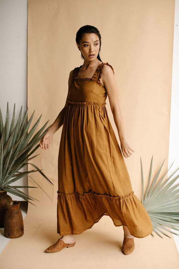 AUDREY DRESS - RUST