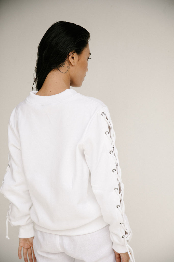 CAMILLA SWEATER - WHITE