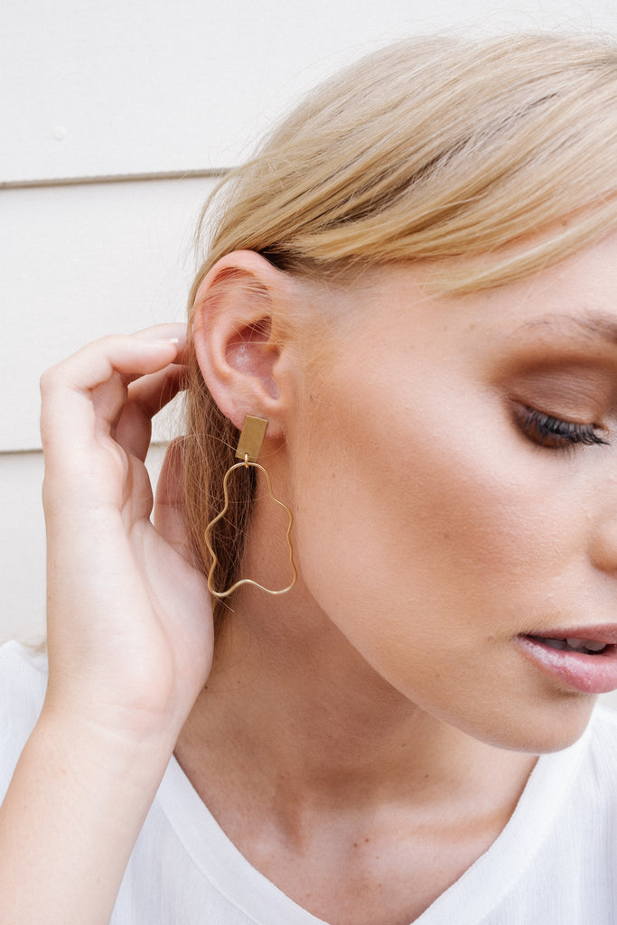 SHADOW EARRINGS - GOLD