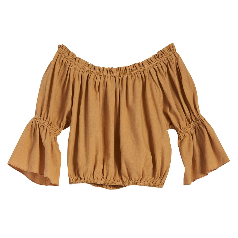 ISABELLA CROP TOP - GOLD MUSTARD
