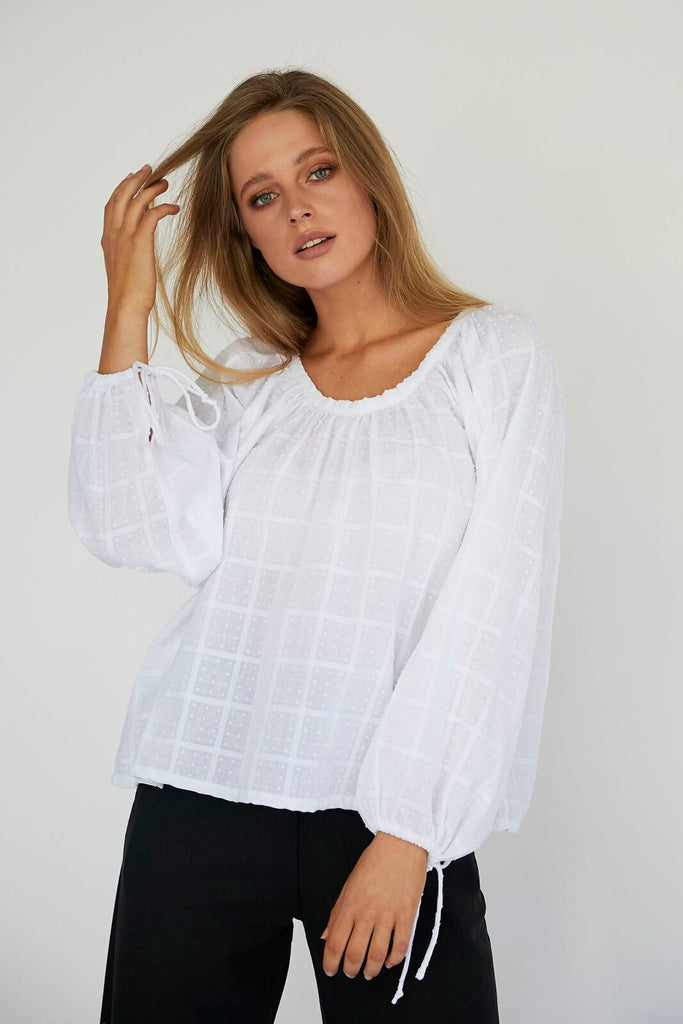 DAPHINE BLOUSE - WHITE