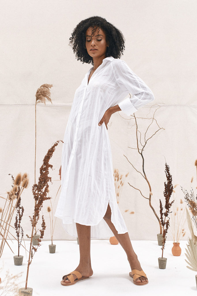 JARRAH SHIRT DRESS - WHITE